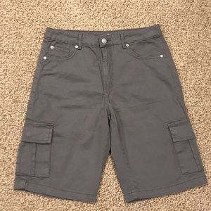 7 For All Mankind Boys Gray Cargo Shorts